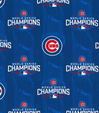eabdf19ac64 Chicago Cubs World Series Championship Cotton Fabric 44