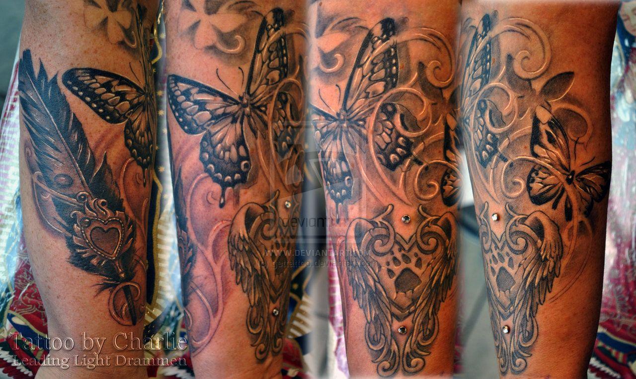 Girly Half Sleeve Tattoo Ideas: Feminine Half Arm Sleeves For Women
