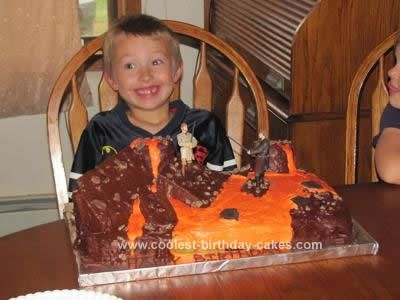Homemade Star Wars Revenge Of The Sith Cake Star Wars Cake Cool Birthday Cakes Themed Cakes