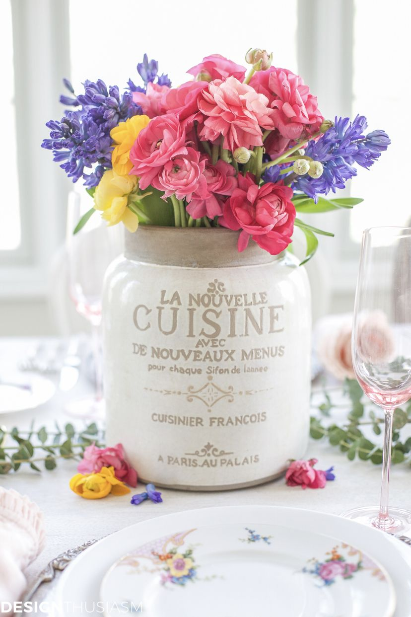 Spring Flower Arrangements Add Color To A Seasonal Tablescape Home