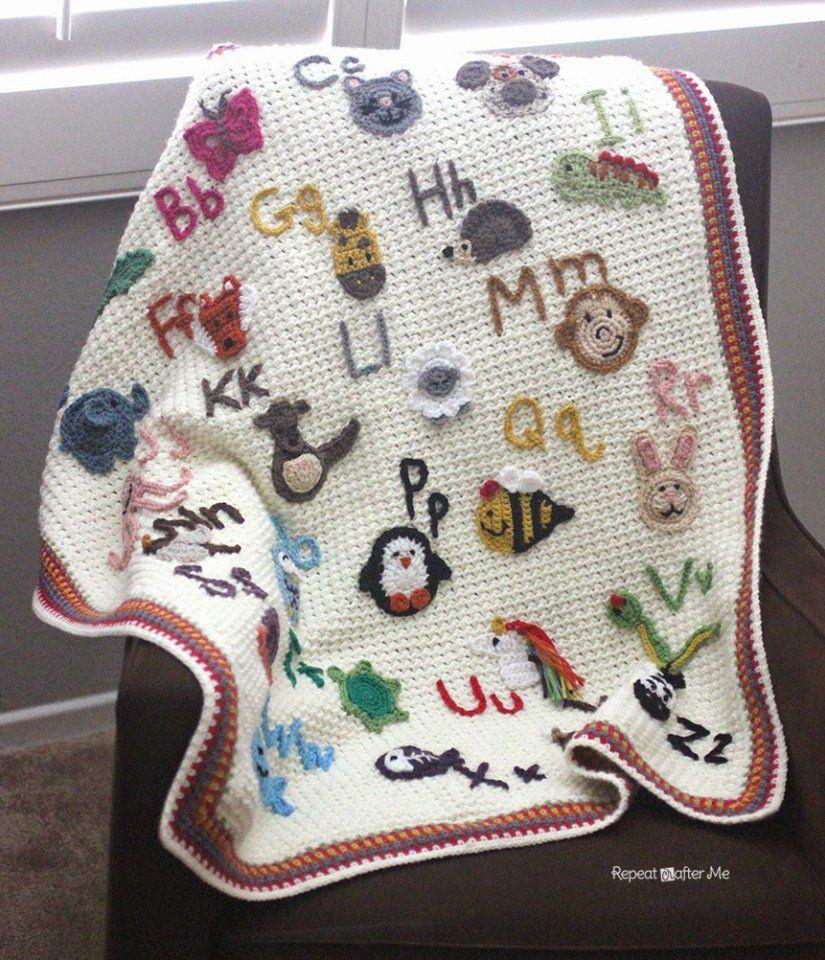 ABC Afghan Baby Blanket FREE Crochet Patterns | Gehäkelte ...