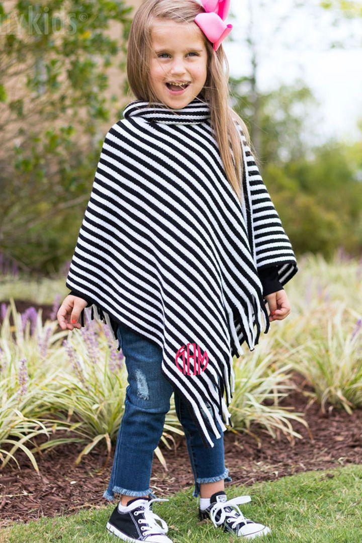 Fall ponchos are in monogram kids girl sweatshirts