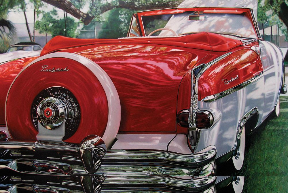Classic Car Paintings | Classic muscle cars paintings by Cheryl ...