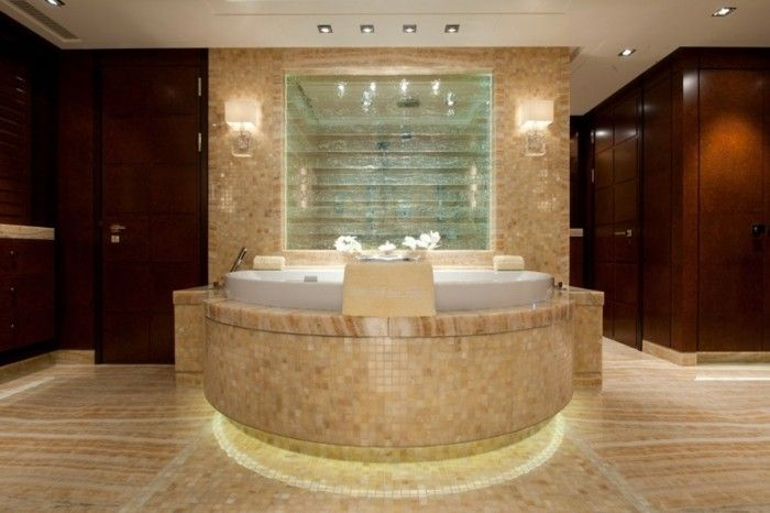 Badezimmer Wandgestaltung ~ Braune wandgestaltung brauntöne im badezimmer wandgestaltung