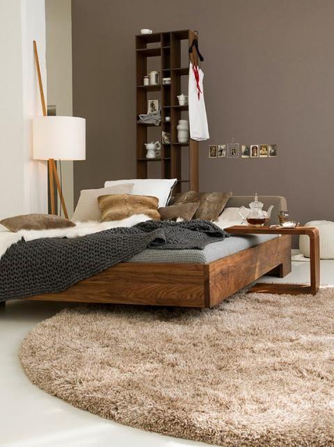 Braun Und Cremeweiss Mit Warmen Holztonen Schoner Wohnen Farbe Wandfarbe Braun Wandfarbe Schlafzimmer