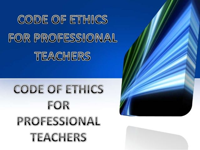 The Code Of Ethics Is Broken Into Three Major Areas Obligation To