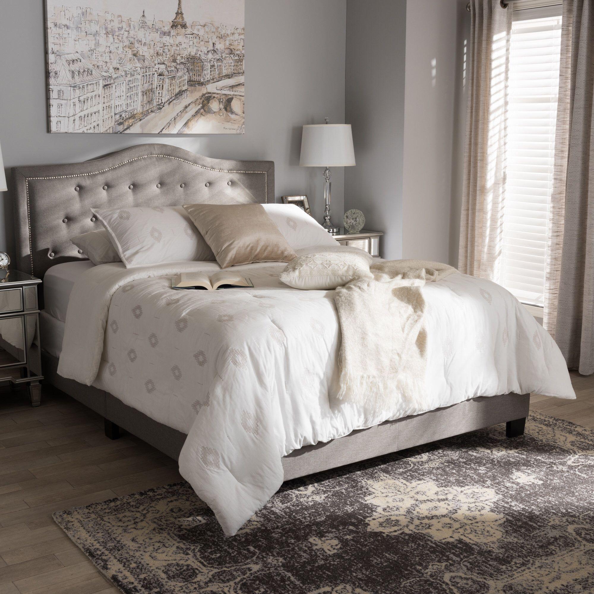 Roberto Fabric Upholstered Standard Bed Upholstered