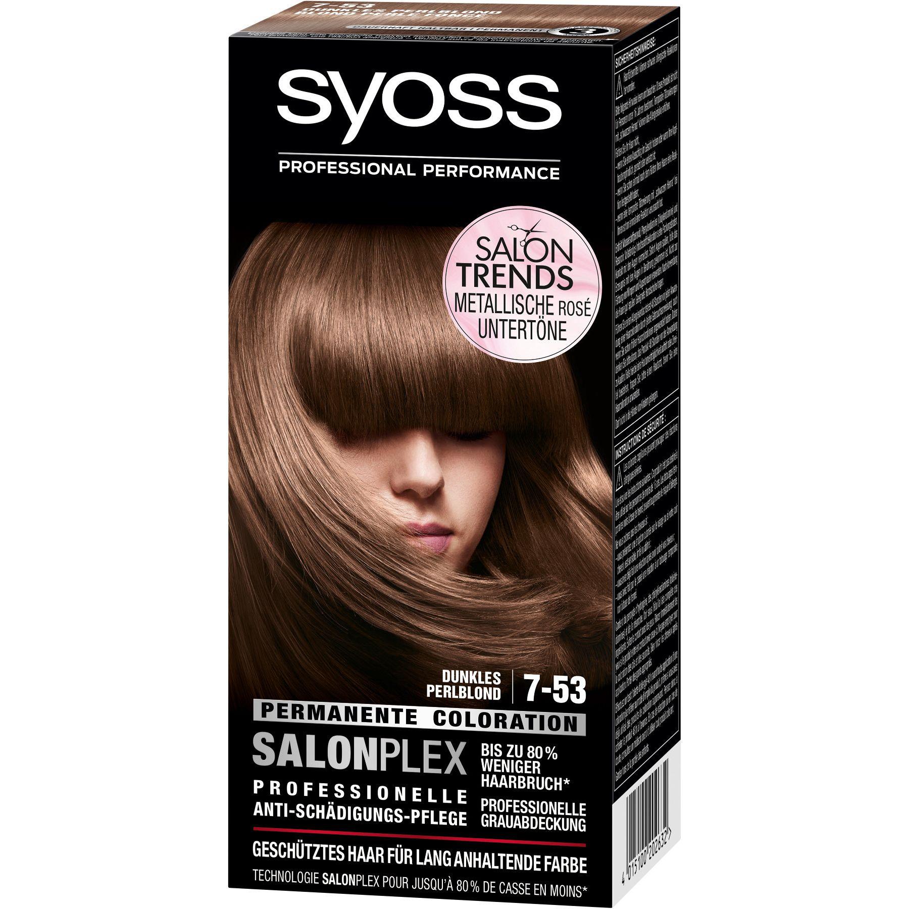 Syoss Metallic Rose Dunkels Perlblond 7 53 Dyed Hair Hair Dye