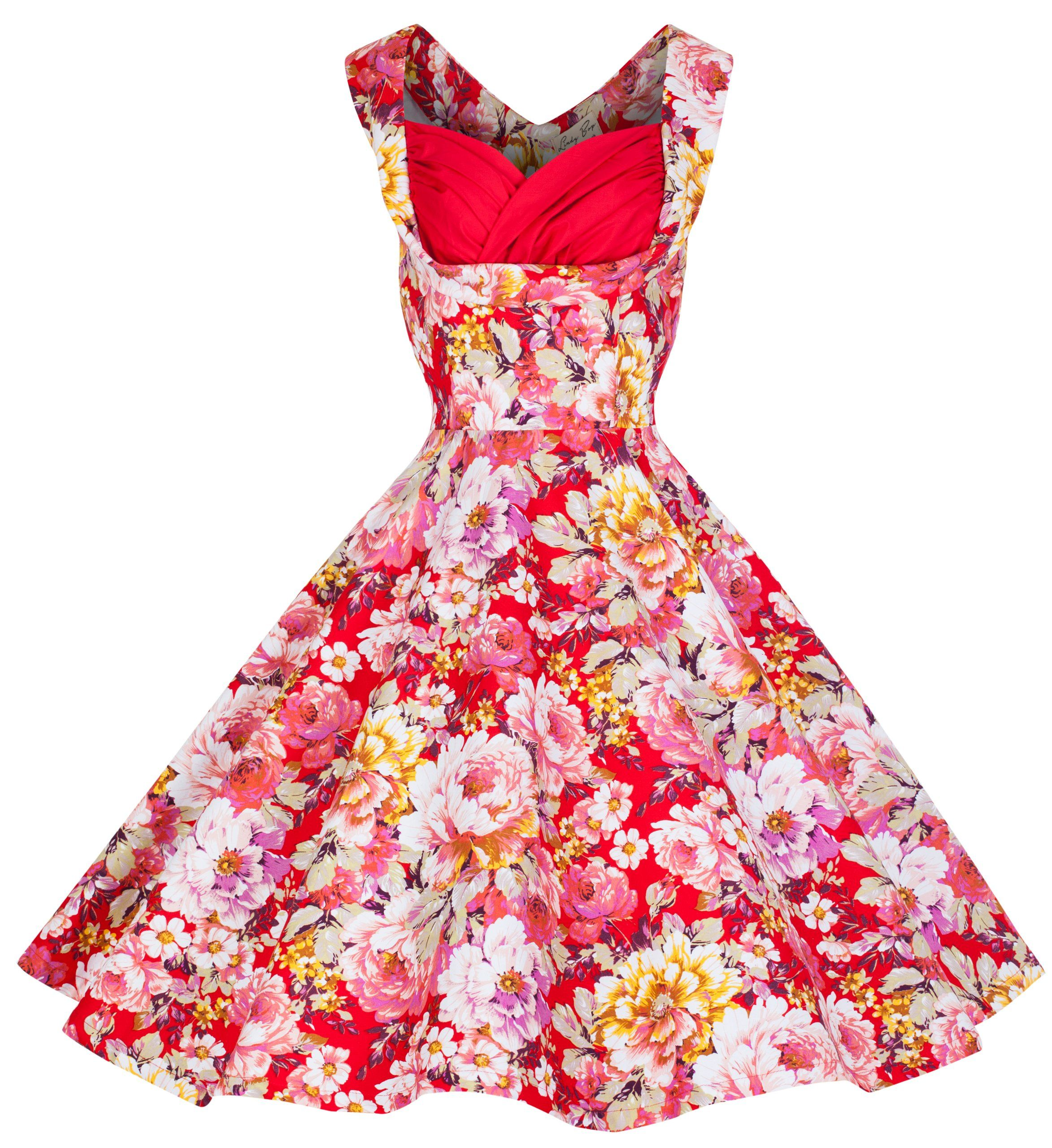 Lindy Bop \'Ophelia\' Vintage 1950\'s Floral Spring Garden Party Picnic ...