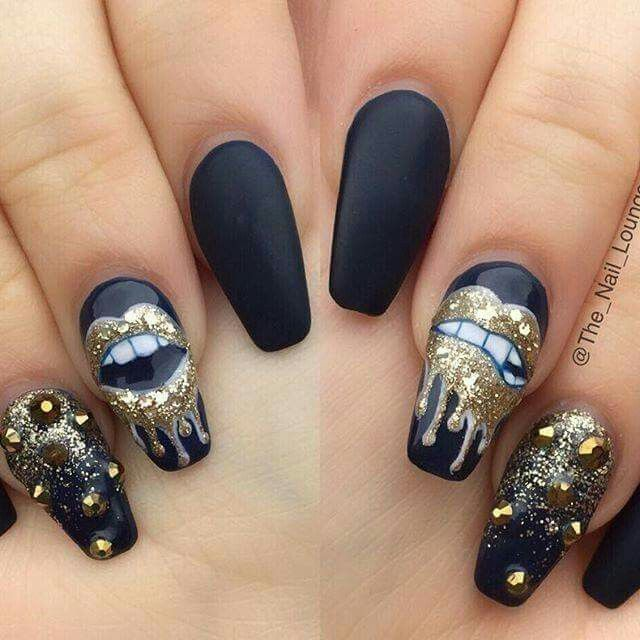 Love the design not the nail shape tho my nailpolish is poppin love the design not the nail shape tho prinsesfo Choice Image
