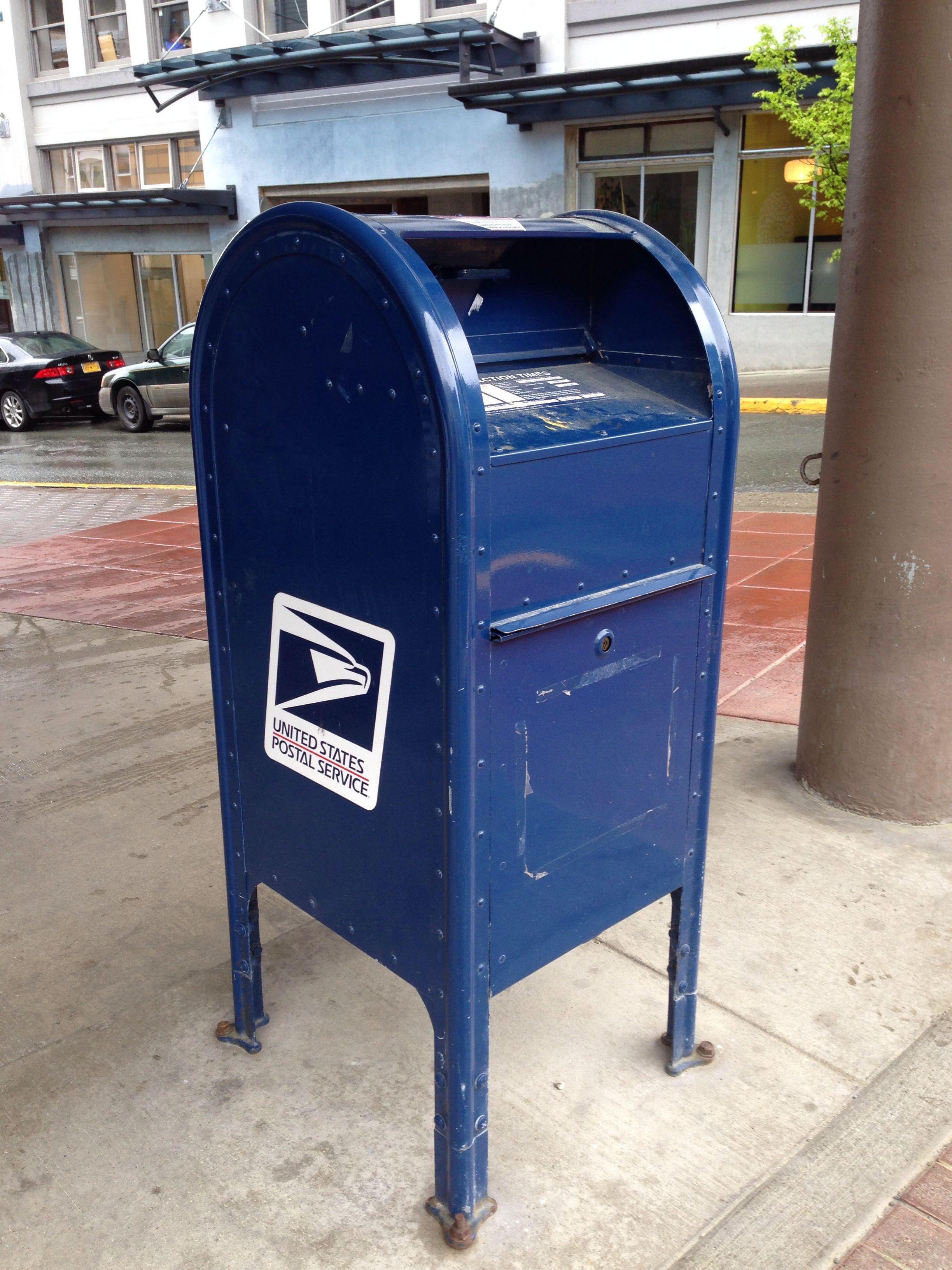 A Blue Us Mail Post Box In Juneau Alaska Post Box From