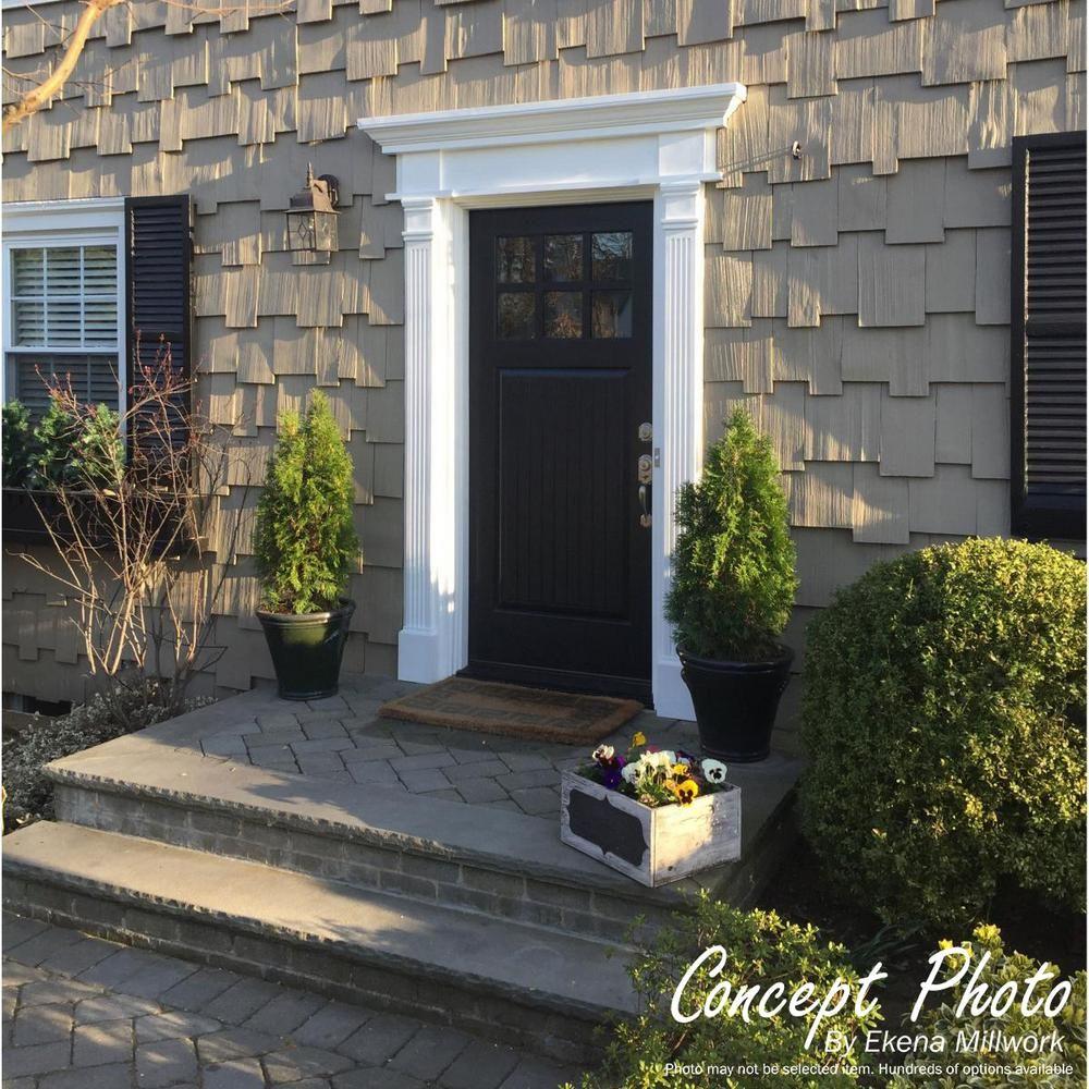Ekena Millwork 8 In X 2 3 4 In X 100 In Primed Polyurethane Fluted Pilaster Moulding Pil08x100x02 The Home Depot Brick Exterior House Front Door Trims Garage Door Design