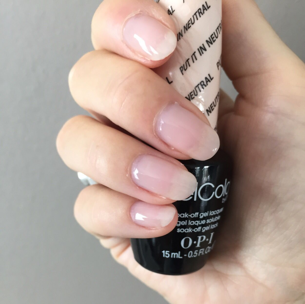 Opi Gelcolor Put It In Neutral With Images Opi Gel Nails