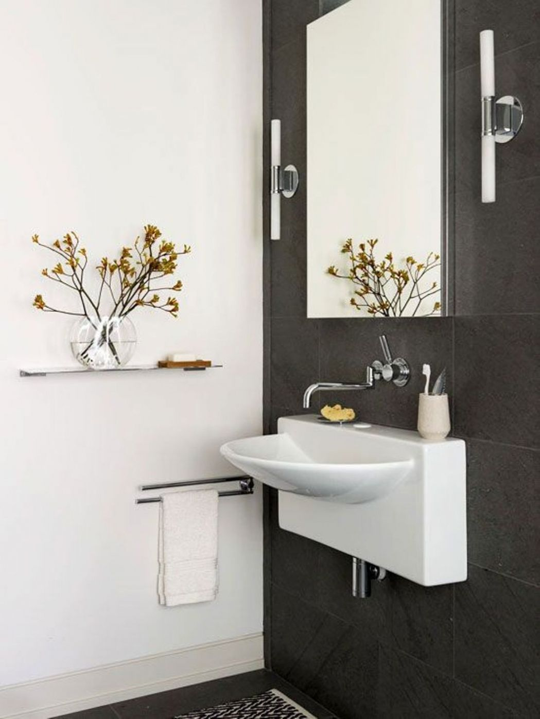wall mounted bathroom sinks corner shower stalls for small bathrooms ...