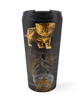 Cute little Hobbes Mugs #travel #mug #travelmug #lion #tiger #cat #bigcat #beautifulanimal #jungle #puma #stipestiger #stripesskins #calvinandhobbes
