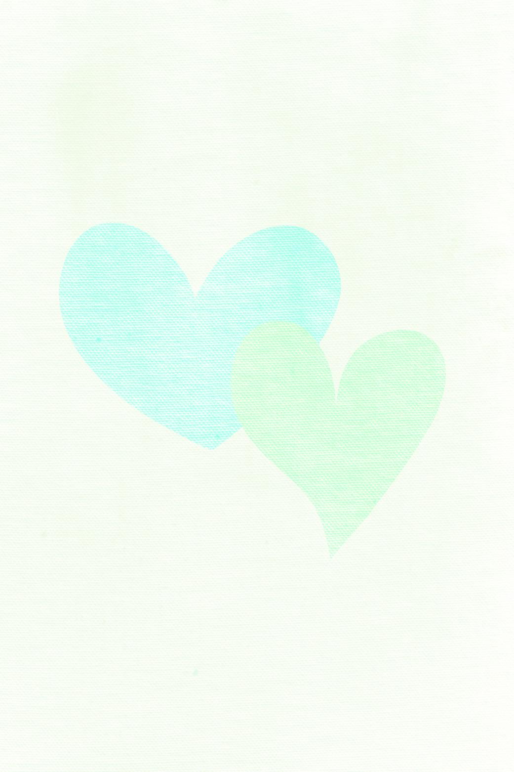 Cream Mint aqua fabric texture hearts iphone wallpaper
