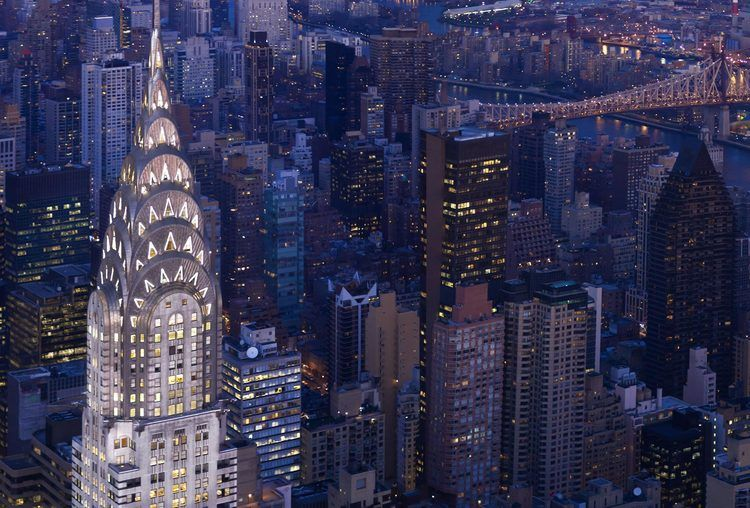 The Chrysler Building, New York - One of the most famous examples of Art Deco…