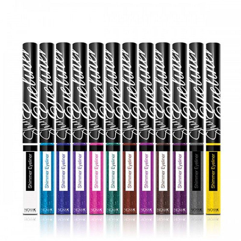 Nicka K Shimmer Eyeliner Matte Black 12pcs/set Discount