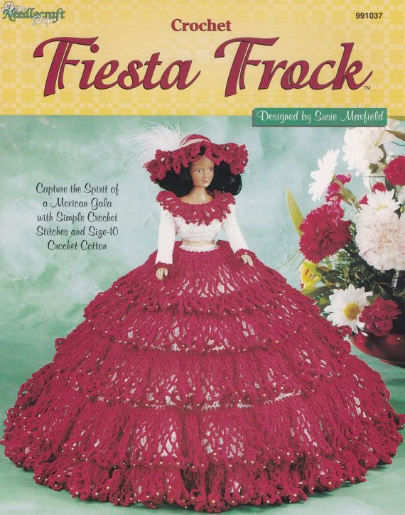 Fiesta Frock, The Needlecraft Shop Fashion Doll Mexican Gala Dress ...