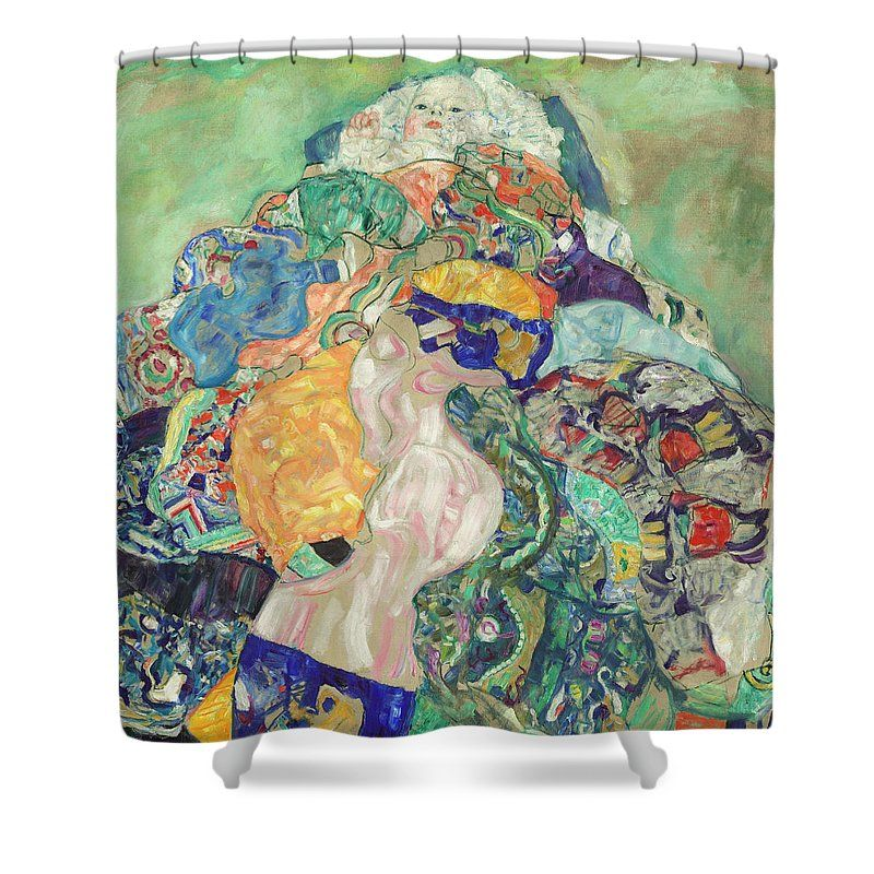 Baby Shower Curtain Featuring The Painting By Gustav Klimt