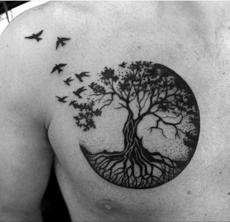 Arbol De La Vida Tatuaje Arbol De La Vida Tatuajes Al Azar Tatuaje De Raices