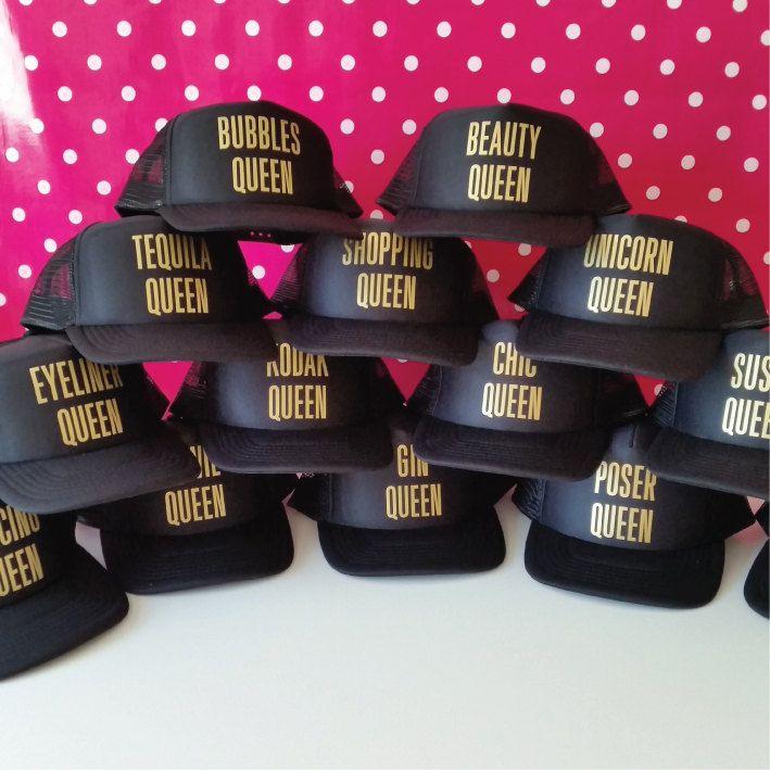 Custom Queen Hat. Custom Hats. Custom Trucker Hat. Snapback. Personalized Hat. Custom Hat. Custom Cap. Custom Party Hats #queenshats