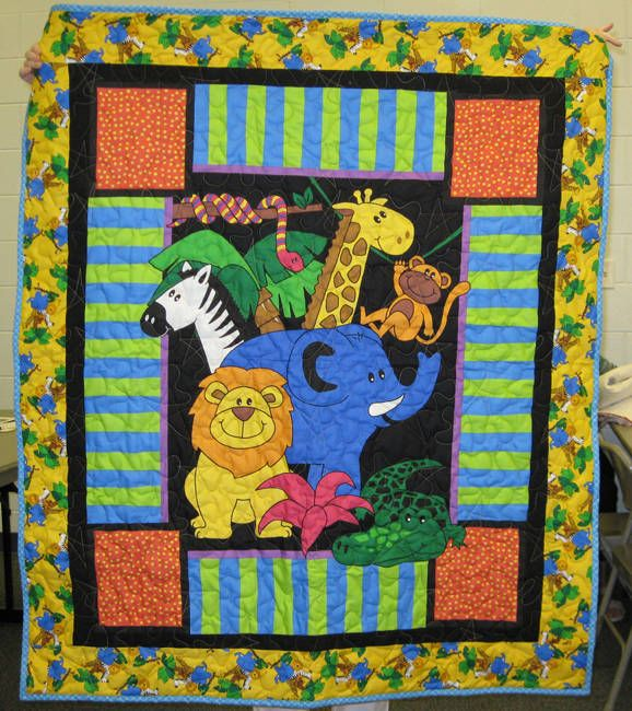 Baby Boy Quilt Patterns Set : Gallery of Inspiring Ideas for Baby Boy Quilts Jungle animals, Applique designs and Baby boy