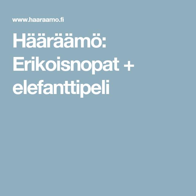 Hääräämö: Erikoisnopat + elefanttipeli