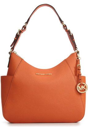 9f531ae54 ShopStyle: MICHAEL Michael Kors Handbag, Jet Set Travel Leather Medium  Shoulder Bag