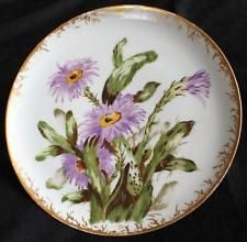 """Antiqe HAVILAND Limoges Hand Painted BLOOMING CACTUS 10""""d Plate"""