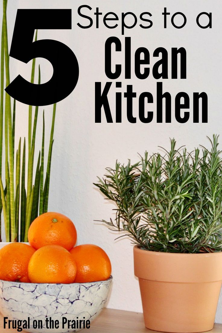 Best 5 Steps To A Clean Kitchen Cleaning Cleaning Hacks 400 x 300