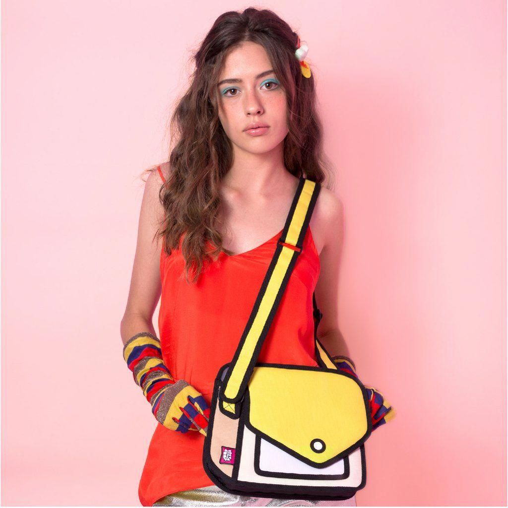 The 2D Minion Yellow Shoulder Bag shows that style is your priority.  JumpFromPaper is the official designer brand of 2d, cartoon, pop art bags. a03e5507cd