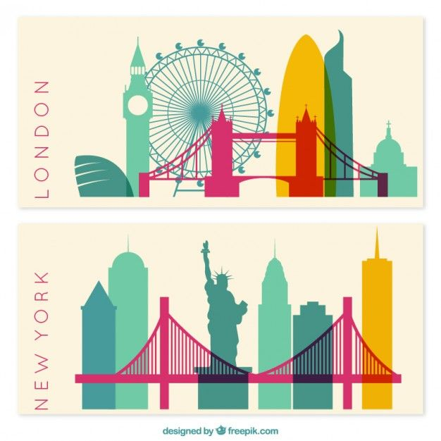 Download New York And London Banners For Free Banner Vector Dinosaur Drawing Fashion Stock Images