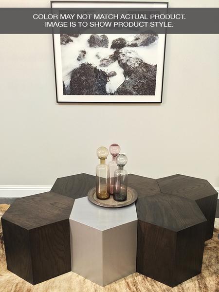 Hexagon Wood Modern Geometric Table Oak With Images Geometric