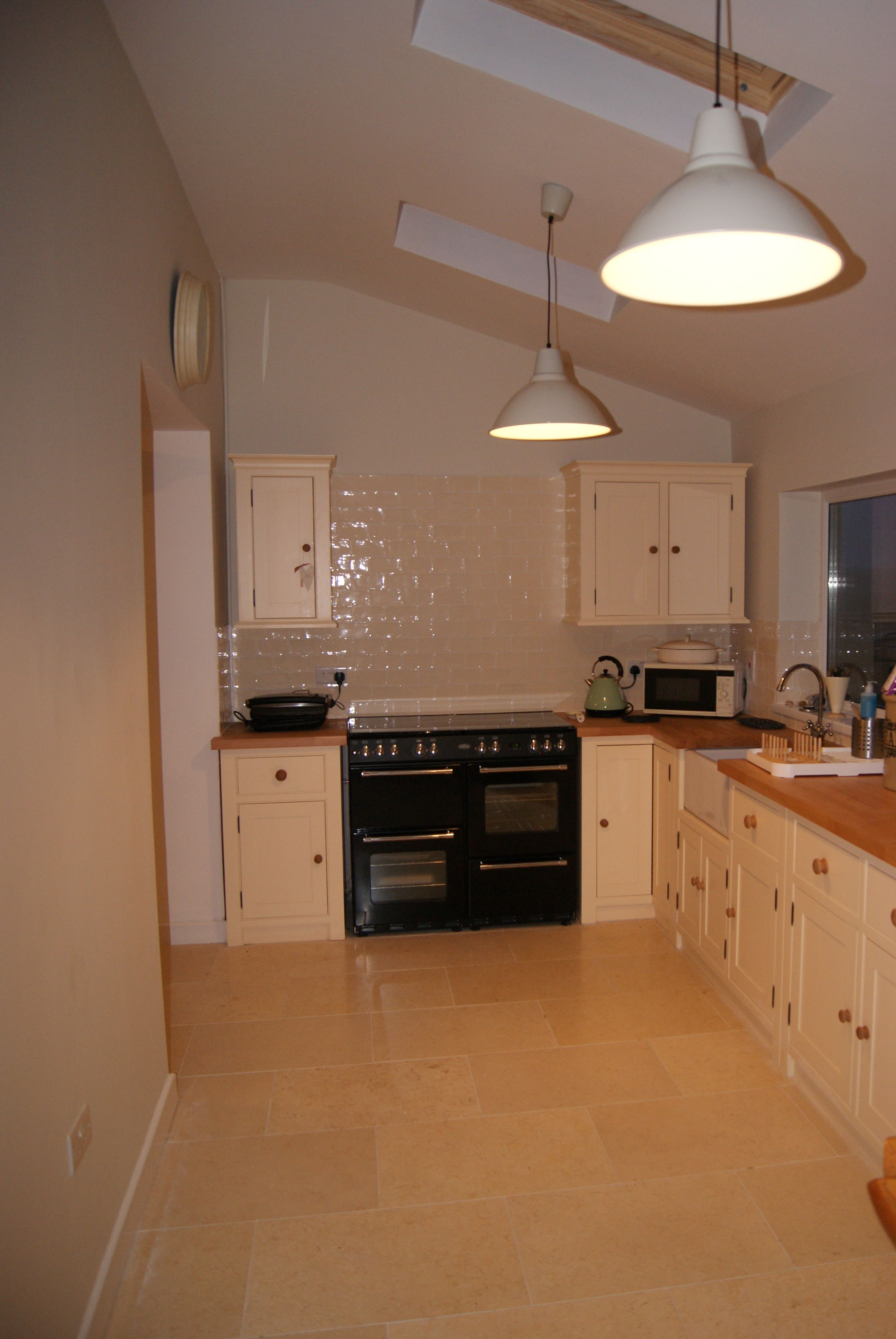 Cream Floor Tiles For Kitchen Kitchen From The Old Creamery In Cream Lights Ikea Belling