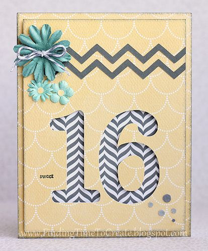 Sweet 16 Card by Kelly Wayment #silhouettedesignteam