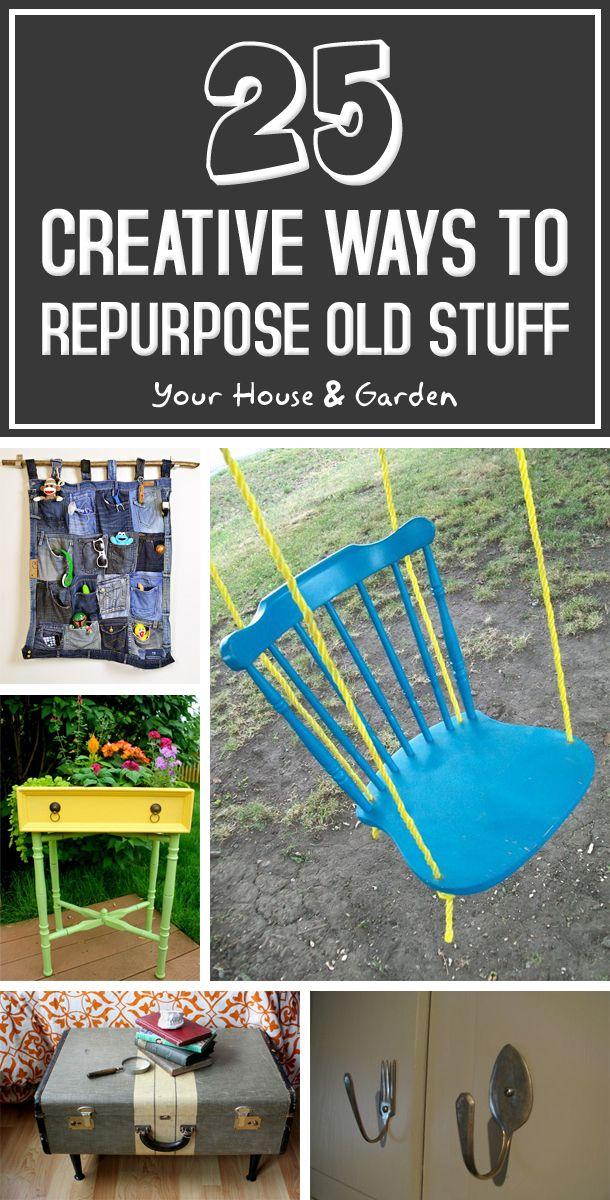 25 Creative Ways To Repurpose Old Stuff