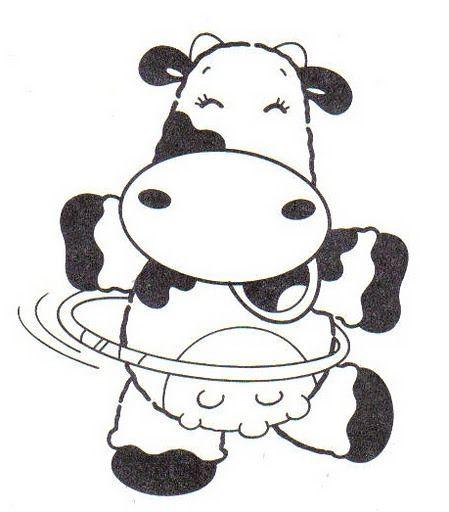 Riscos De Vacas Dancarinas Para Imprimir E Colorir Com Imagens
