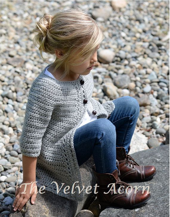 CROCHET PATTERN-The Cairbre Cardigan (2/3, 4/5, 6/7, 8/9, 10/11 ...
