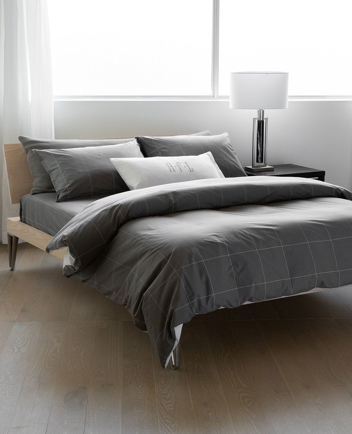 Brooklyn Grey/White Best duvet covers, Cool beds, Luxury
