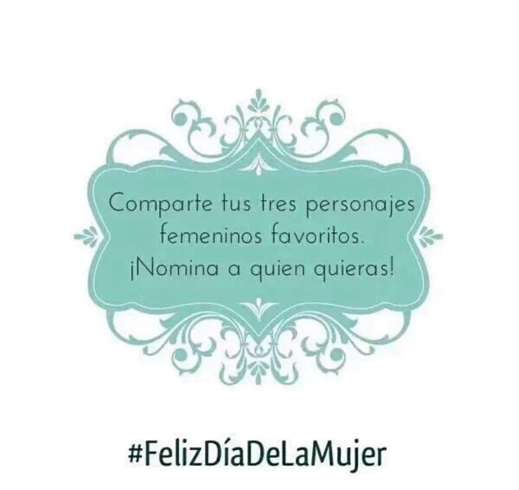 @ChrisJeffries24 : RT @shedarkness_: tagged by @PJopaloma.   solo tres es imposible but...  #FelizDíaDeLaMujer.  https://t.co/3PchiXXIXe March 08 2016 at 04:27PM
