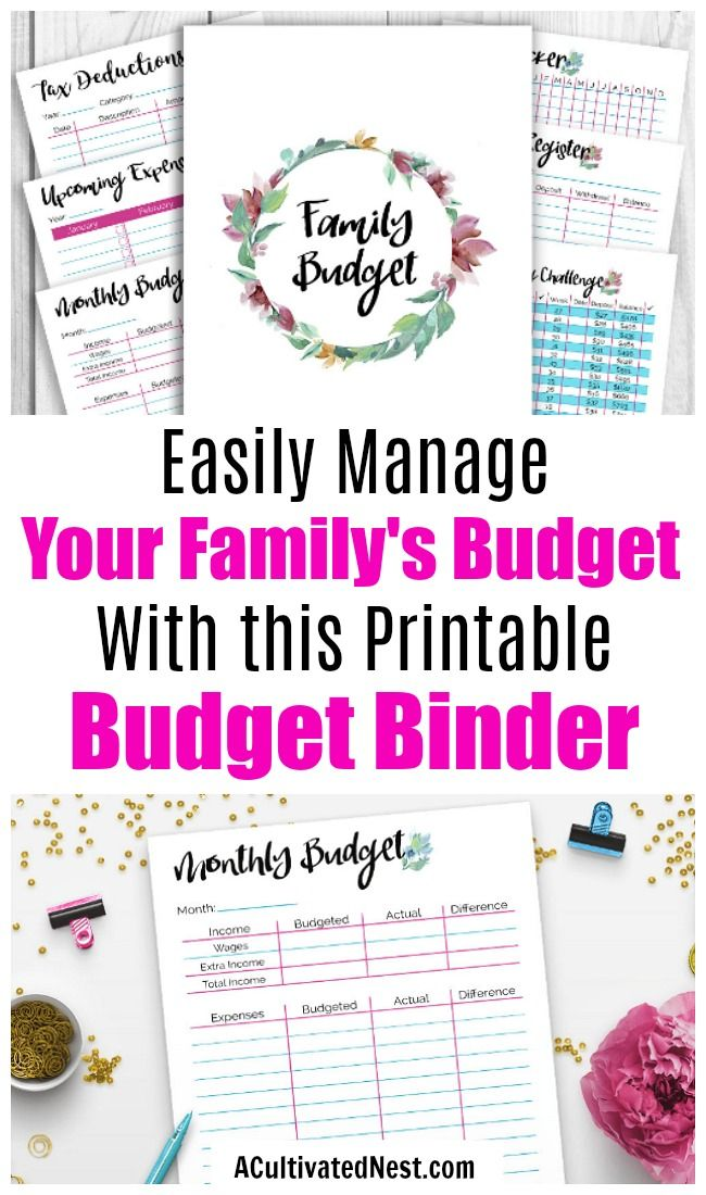 Printable Budget Binder- Watercolor | budget | Pinterest