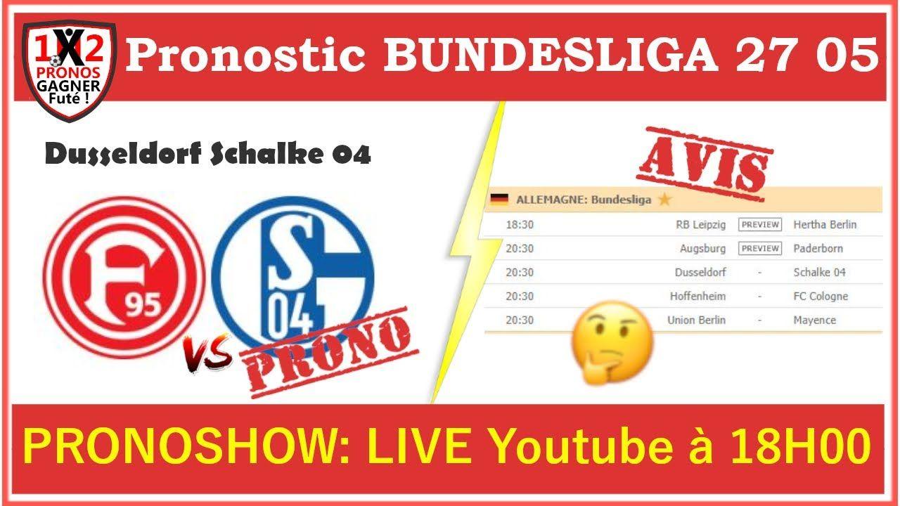 Pronostic Dusseldorf Schalke 04 Bundesliga GRATUIT de FRED