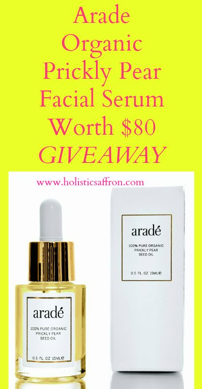 Win Arade Organic Prickly Pear Facial Oil Worth $80 - (GIVEAWAY!)