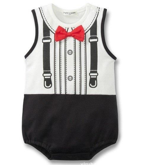 d3bec81907c Red Bowtie Onesie with suspenders from Miki and Alex Boutique on Storenvy