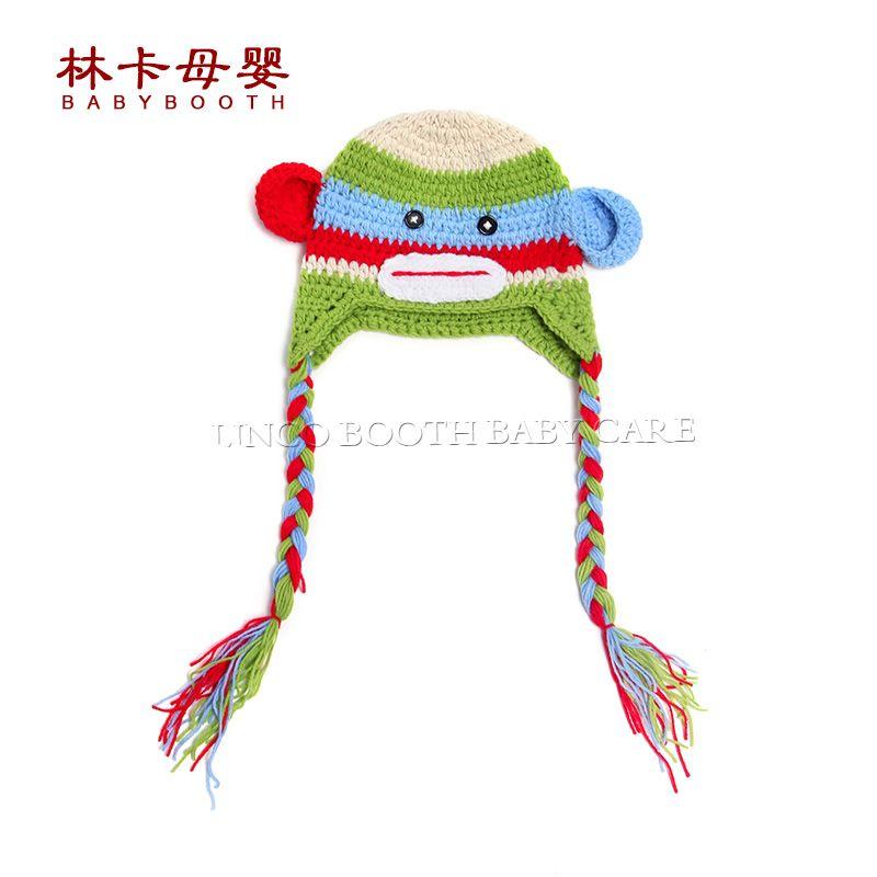 b07cb426834 Click to Buy    2016 New Monkey Cartoon Infant Toddler Handmade Knitted  Crochet
