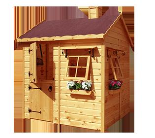 Casa de madera para ni os caba a casas pinterest for Cabanas infantiles en madera