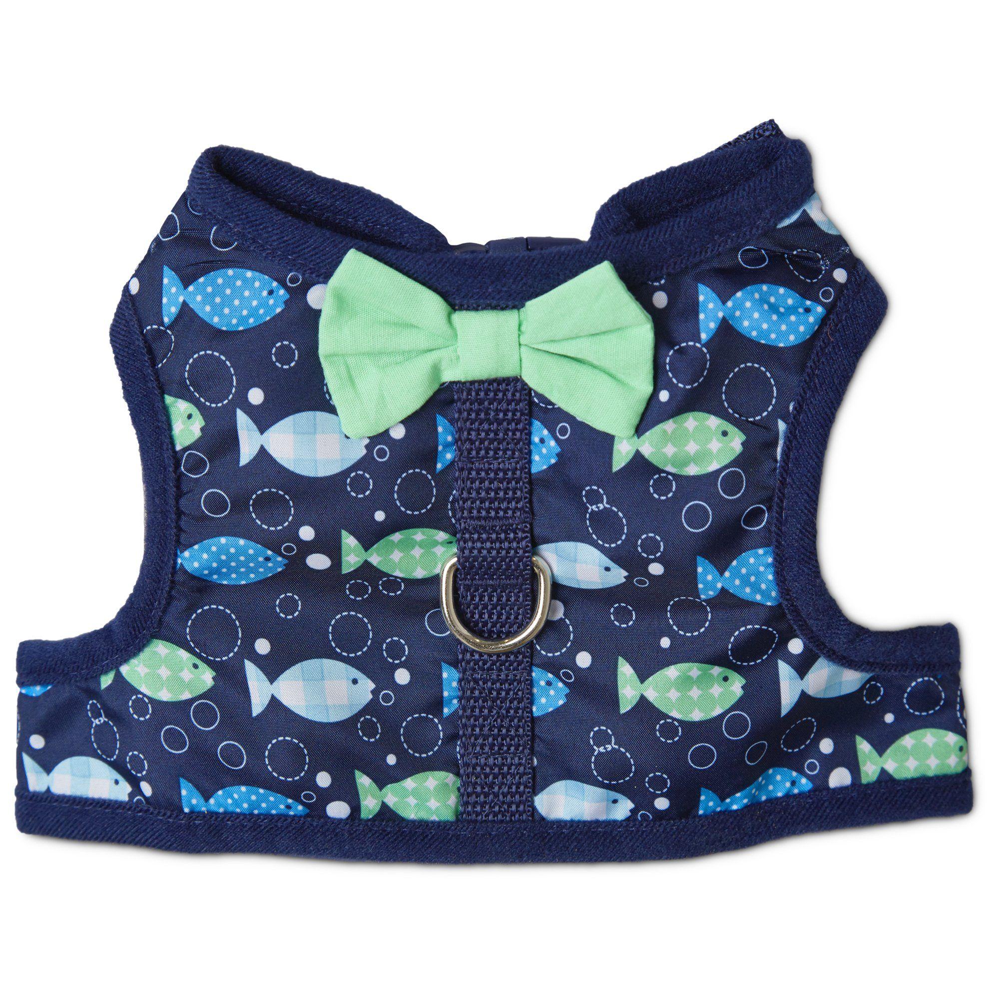 Bond Co Fishy Print Bow Tie Harness Petco Store Cat Harness Cat Clothes Cat Collars