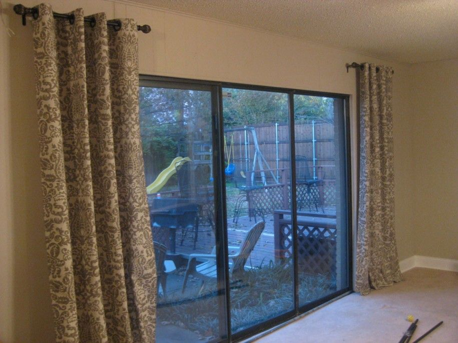 Curtains For Sliding Glass Doors Keep The Heat And Light Out With