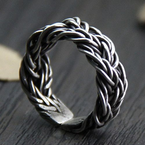 Fine Silver Braided Wrap Ring
